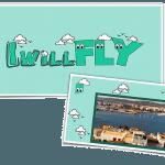 I will fly online diary logo. Sandra Lena, poster designer